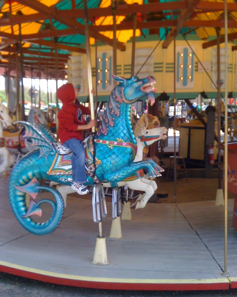 While sightseeing on the National Mall take a break to ride the carousel!