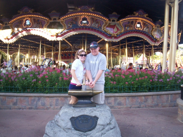 The sword in the stone: A great photo opportunity that is usually not so crowded.