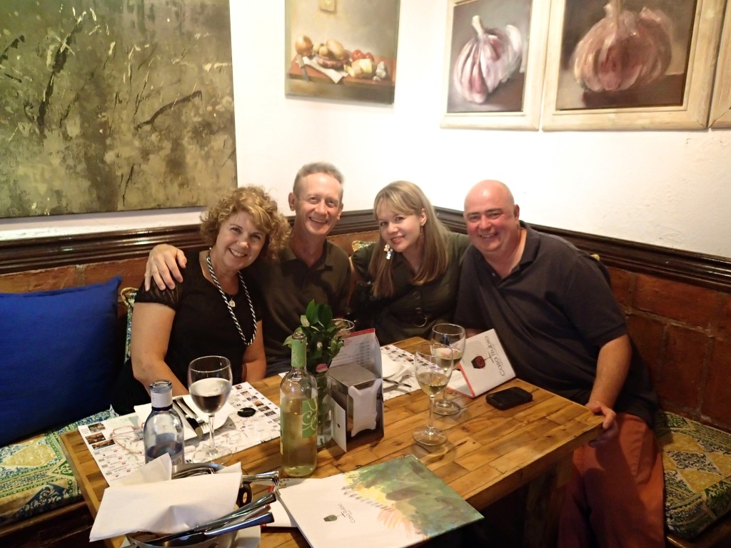Trip #3 was very special - my parents joined us! Celebrating our first night in Cordoba